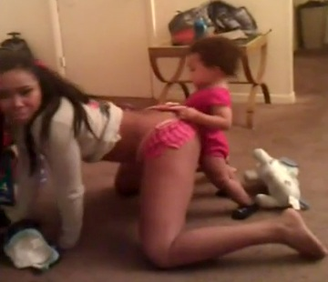 WTF!! Girl Makes Little Baby Dagger Her - Bad